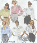 Misses Blouse Scarf Sewing Pattern Front Shoulder Tuck Neck Sleeve Vary 5199