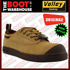 Dunlop Volley Original Work Shoes. SAND SUEDE. Safety Steel Toe Cap! UK Fitting!