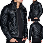 Biker Jacke Herren Bikerjacke Steppdesign Kosmo Japan Style Kunstleder Optik Fit
