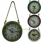 Large 36cm Retro Distressed Iron Hanging Rustic Wall Clock