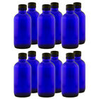 4 fl oz Cobalt Blue Glass Bottle w/ Phenolic Cap