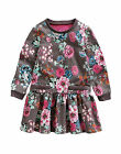 JOULES GIRLS JNR BANGLES LONG SLEEVE DRESS PRALINE GARDEN FLORAL - BNWT