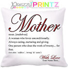 PERSONALISED MOTHER MOM MUM NOUN CUSHION CHRISTMAS BIRTHDAY MOTHERS DAY GIFT