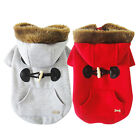 Dog Puppy Pet Cat Christmas Buttons Jacket Coat Clothes Apparel Hoodies Winter