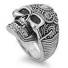 FREE SHIP! Heavy LARGE BIKER GOTHIC Solid Skull Stainless Steel Ring Size  9-14