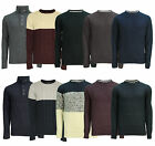 Soul Star Men's Crew Neck Knit Jumpers Winter Fashion Knitted Pullover Sweaters