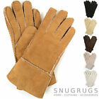 LADIES / WOMENS GENUINE DOUBLE FACED SHEEPSKIN GLOVES