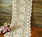 OBLONG 16''X36'' White Beige Crochet Lace Table Runner Handmade Doilies G10