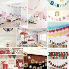 Bunting Banner Flags Garland Wedding Baby Birthday Party Christmas Decoration