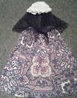 GIRLS FANCY DRESS COSTUME Victorian Tudor Edwardian Skirt shawl and mop cap PBPX