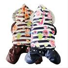 NEW Small Dog Pet Winter Warm Coat Jacket Puppy Jumpsuit Hooded Snowman Clothes