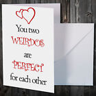 Greetings card Funny Anniversary card for couple love first