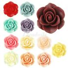 3/12pcs New Resin Lucite Vintage Style Rose Flower Cabochon Cameo 21x21x9.5mm