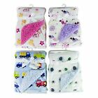 Baby Blanket Fleece Swaddle Wrap Warm Soft Lining Printed Design 13months-2years