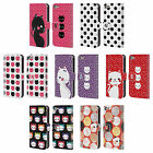 HEAD CASE DESIGNS CATS AND DOTS LEATHER BOOK CASE FOR APPLE iPOD TOUCH MP3