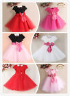 Kids Girls Baby Child Princess Party Pageant Evening Wedding Dress Skirt Clothes
