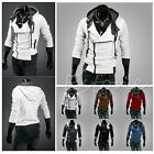 New Mens Slim Casual Jacket Hooded Sport Coats Long Sleeve Zipper Hoodies Top