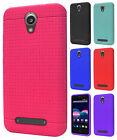 For ZTE Obsidian Z820 Rubber SILICONE Soft Gel Skin Case Cover + Screen Guard