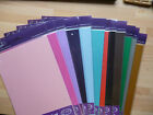 5 x A5 sheets quality pearlescent card  310 gsm - 19 colours + mix pack