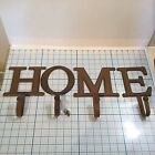 Decorative Cast Iron Letter Hooks That Spell  HOME - Home Decor