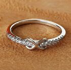 NEW! Simple Classy Style Sterling Silver CZ Infinity Promise Ring