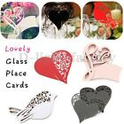 50x Love Heart Bird Table Mark Wedding Name Wine Glass Place Card Party Ceremony