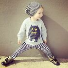 Outfits&Sets 2PCS Baby Boys Cotton tops + striped pants Set Kids Casual Clothes