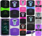 For LG V10 Hard Gel Rubber KICKSTAND Case Phone Cover Accessory +Screen Guard