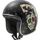 LS2 OF583 OPEN FACE LOW PROFILE MOTORCYCLE MOTORBIKE CUSTOM BOBBER TATTOO HELMET