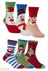Pack Of 6 Kids Christmas Socks,Children's Novelty Xmas Stocking Filler Gift  B54