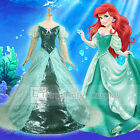 Little Mermaid Ariel Green Dress Adult Deluxe Cosplay Costume FREE P&P