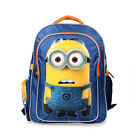 """16"""" Despicable Me Minions Large Backpack Boy Back to School Lunch Bag Pouch"""
