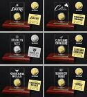 Choose NBA Team 24KT Gold or Silver Medallion Coin Desktop Etched Acrylic Plaque