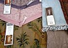 Croscill Valance:Malabar Paisley Ascot or Palm Tapestry Pink Purple Tassel NEW