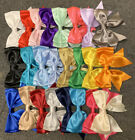 """1.2.10.20 or 50 x130mm (4-5"""" wide) Giant Double Bows Satin Ribbon Bows Tails"""