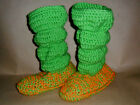Slippers Handmade Crocheted Scrunch Slouch  Arylic