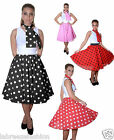New Ladies Crazy Chick Polka Dot Skirts fancy dress 26 inch