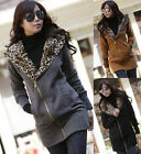 Women Casual Hoodie Hooded Zip Outwear Sweats Coat Tops Winter Jacket Parka S~XL