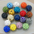 Wholesale Quality Crystal Rhinestone Pave Clay Round Disco Ball Loose Beads 10mm