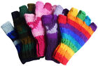 FAIR TRADE WOOL HIPPY BOHO SKATE SKI FINGERLESS GLOVES