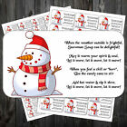 CHRISTMAS SNOWMAN SOUP POEM STICKERS LABELS x 42 #aay