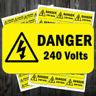 Electrical Voltage Stickers Danger Sign 50 x 25 mm - 110v /230v / 240v / 41 #aax