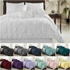 Chezmoi Collection Sydney Pinch Pleat Pintuck Bedding Comforter Set All Sizes image