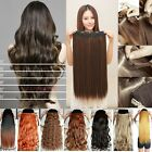 Long New Women 3/4 Full Head Hair Extensions Wavy Curly/Straight Clip in on f657