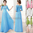 UK CHEAP Womens Formal Prom Party Evening Long Maxi Bridesmaid Dress 4 Size S-XL