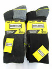 Mens Work Socks One Size UK 6-11 3 Pairs Style 40B184