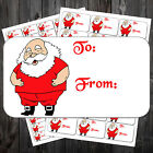 FATHER CHRISTMAS LARGE TO FROM STICKERS GIFT TAGS LABELS STICKY GR #ahl
