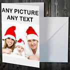 PERSONALISED PHOTO PICTURE CARD FOR ANY OCCASION CHRISTMAS XMAS BIRTHDAY ETC
