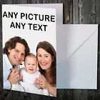 PERSONALISED PHOTO CARD FOR ANY OCCASION CHRISTMAS ANNIVERSARY NEW BABY ETC New
