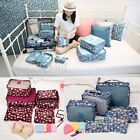 6Pcs Clothes Underwear Socks Packing Cube Travel Luggage Organizer Storage Bag